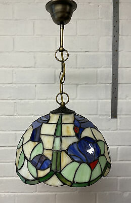 £35 • Buy Tiffany Style Hanging Pendant Stained Glass Blue Bird Ceiling Light Shade (1)