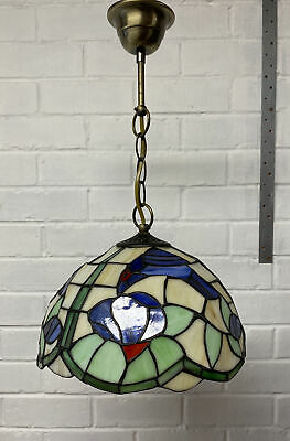 £35 • Buy Tiffany Style Hanging Pendant Stained Glass Blue Bird Ceiling Light Shade (2)