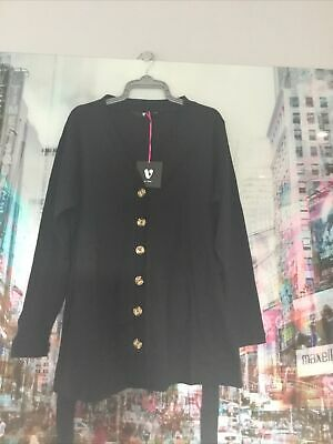 £5 • Buy Very Black Chunky Button Cardigan New Size 20