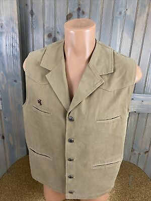 $24.99 • Buy Wyoming Traders Mens Rodeo Tan Canvas Vest Size Small