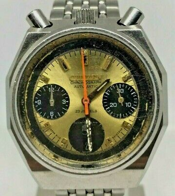 $ CDN313.45 • Buy Citizen 8110 BULLHEAD Flyback Gold Dial Chronograph Mens Automatic Watch VINTAGE