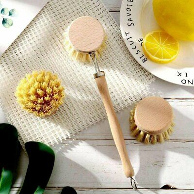 £13.85 • Buy Wooden Dish Brush Replacement Heads Kitchen Scrubber For Dishes Kitchen Sink