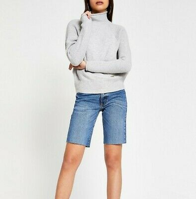 £17.95 • Buy New Tagged River Island Funnel Neck Knitted Jumper Grey Size Large Slouchy