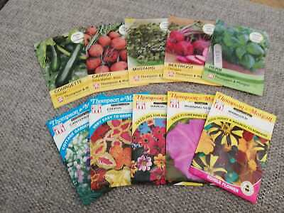 £2 • Buy Bundle Of Thompson And Morgan Seeds Marigold Basil Beetroot Mustard Carrot Courg