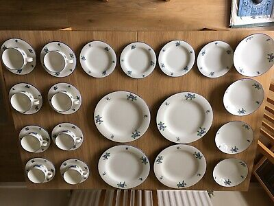 £35 • Buy Doulton Everyday Blueberry Set, 4 Plates, 4 Bowls, 4 Side Plates, 8 Cups/saucers