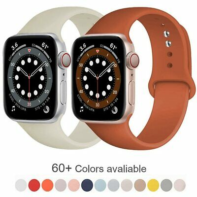 $ CDN4.85 • Buy 38/40/42/44mm Silicone Sport IWatch Band Strap For Apple Watch Series SE 6 5 4 3