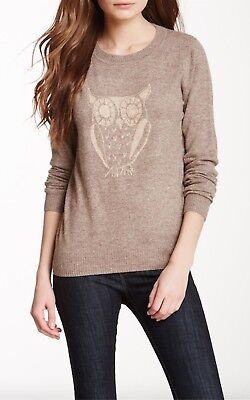 £10.81 • Buy New SISTERS Light Brown Angora Sweater/Pullover Owl Design- M