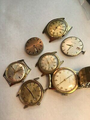 $13.50 • Buy Lot Of Bulova And Caravelle Men's Vintage Mechanical Watches And Parts