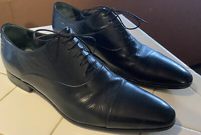 £54.02 • Buy Russell & Bromley London By Moreschi Cap Toe Black Leather Shoes Size 8 1/2 US