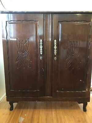 AU19.99 • Buy Antique Solid South African Mini Wardrobe 55 Years Old