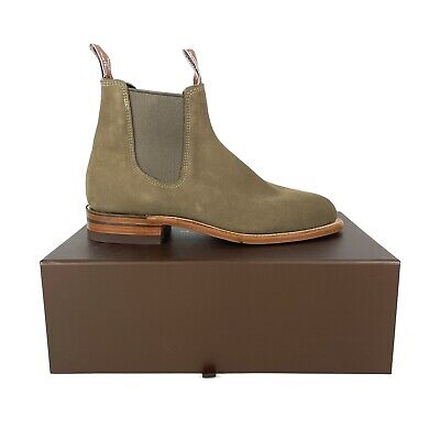 AU399.95 • Buy RM Williams Turnout Eucalypt Green Suede Leather Boots Size 8 G EU 42 New In Box