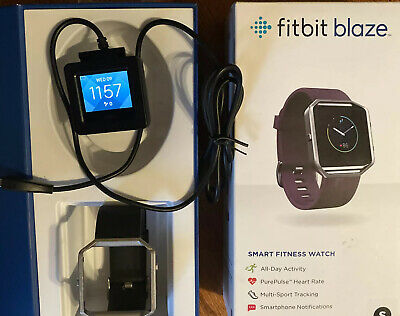 AU81.53 • Buy Fitbit Blaze HR Heart Rate Monitor Smart Watch Sleep Activity Track+Band Charfer