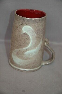 £3.99 • Buy William Fishley Holland (Clevedon) Studio Pottery Swan Decorate 1/2 Pint Tankard