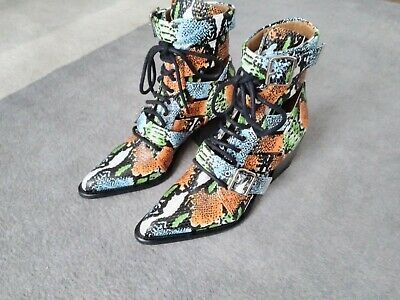 £299.99 • Buy Chloe Rylee Multi-colour Boots £1059 New 7 Uk 40 Made In Italy
