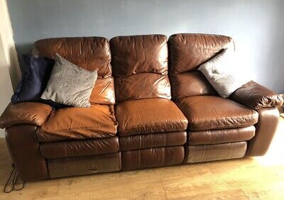 £1 • Buy Leather 3 Piece Suite - Electric Recliners