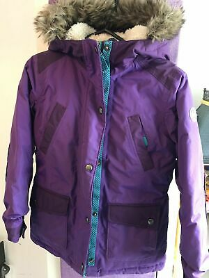 £29.99 • Buy Kids LANDS END Purple Expedition Parka Down Filled Winter Coat Age 6-7 RRP £110