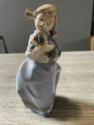 £5.70 • Buy Nao By Lladro Girl With Sleepy Puppy Porcelain Figurine