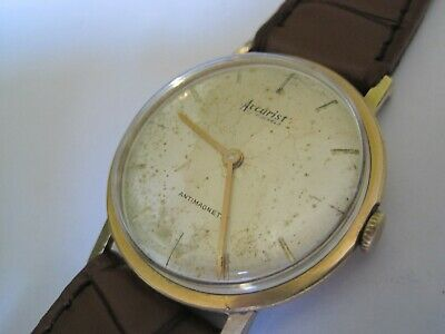 £22 • Buy Retro 1960s Original Accurist Gent's Mechanical Watch - Wind Up Mov't Works Well