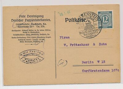 £0.72 • Buy LO07145 Germany 1946 To Berlin Postcard With Nice Cancels Used