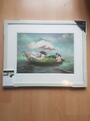 £15 • Buy The Whimsicle Castaways  By Charlotte Bird Framed Wall Art 125964 New Sealed 19