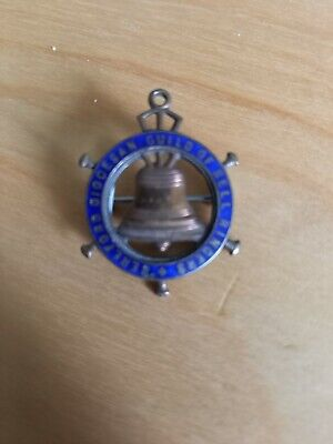 £10.75 • Buy Vintage Metal  Badge The Hereford Diocesan Guild Of Church Bell Ringers