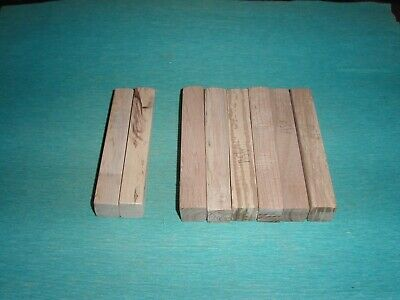 £1.90 • Buy Wood Pen Blanks X 8 Ash (6) & Sycamore (2) Turning Woodturning Crafts Carve