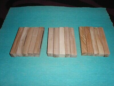 £2.50 • Buy Sycamore, Willow, Apple Wood Pen Blanks X 15 Turning Craft Woodturning Carving
