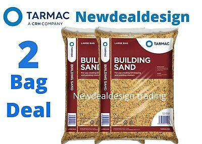 £18.99 • Buy 2 Tarmac Building Sand Builders Polybag Approx 25kg Bricklaying General Mortar