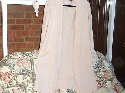 £29.95 • Buy The White Company Washed Pink 100% Cashmere Dressing Gown / Long Cardigan L