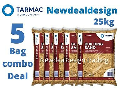 £28.99 • Buy 5 Tarmac Building Sand Builders Polybag Approx 25kg Bricklaying General Mortar