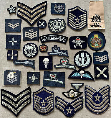 £12.50 • Buy Group Royal Air Force RAF Cloth Insignia Stripes Patches Badges Arm Rank Paras