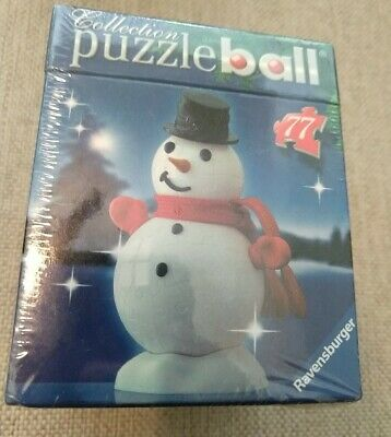 $11.99 • Buy Ravensburger Collection: Christmas Puzzle Ball Ornament 77 Pieces Snowman ☃️ NEW