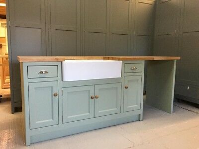 £1550 • Buy Solid Wood Handcrafted Kitchen Cabinets **FREE DELIVERY** (Belfast Sink)