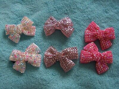 $ CDN5.19 • Buy HAIR ACCESSORIES  - SPARKLY BOWS (Various Shades Of Pink)