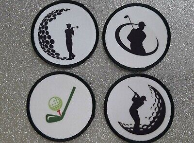 £13.99 • Buy Golf Golfing Golfer 3  4x Patch Set Iron Or Sew On Patch Badge