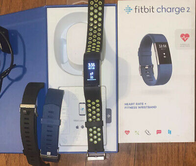 $ CDN110.78 • Buy Fitbit Charge 2 HR Monitor +TONS Of Accessories 4 Bands+Cord+Gift Box & WARRANTY