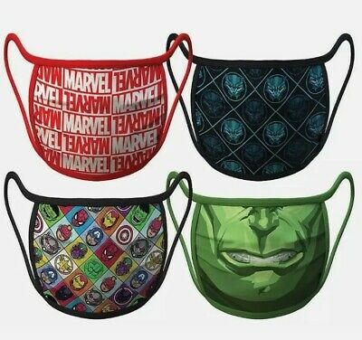 £5.99 • Buy New Adult Disney Marvel Cloth Face Coverings Size Large Pack Of 4 Hulk/Panther..