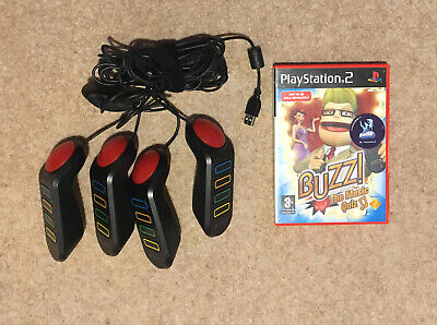 """£14.99 • Buy PS2 4 Buzz Buzzers And """"The Music Quiz"""" Game"""