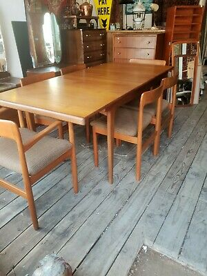 £1350 • Buy John Herbert For Younger Mid Century Teak Extending Dining Table With Six Chairs