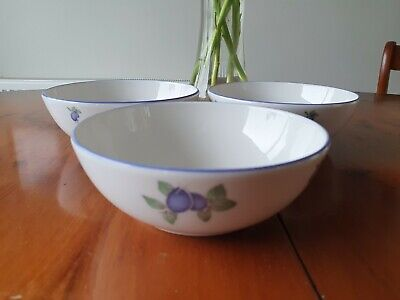 £12.50 • Buy   3royal Doulton  Everyday  'blueberry'   Cereal Bowl