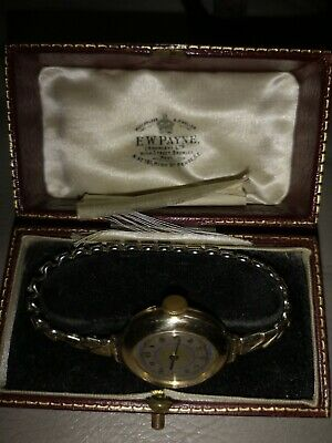 £50 • Buy Ladys Vintage 1920s 9c Gold Case Watch. With Case.
