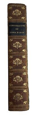 £40 • Buy Conversations Of Lord Byron By Thomas Medwin, 1824 2nd Edition, Henry Colburn