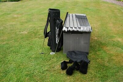 AU135.97 • Buy Full Set Of Men's Matching Donnay  Graphite Golf Clubs Irons Woods Putter Bag