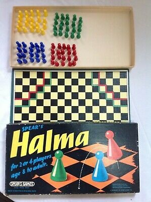£4.99 • Buy SPEAR'S HALMA VINTAGE BOARD GAME By SPEARS 1972 Retro Collectable COMPLETE