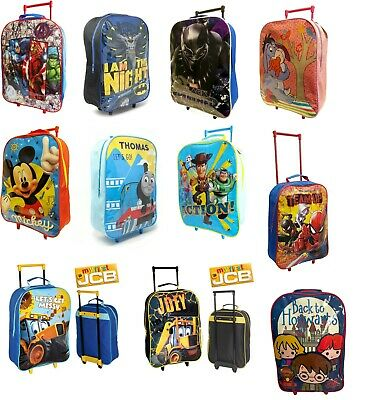 £14.99 • Buy New Childrens Disney Character Foldable Wheeled Trolley School Bag Luggage Cabin