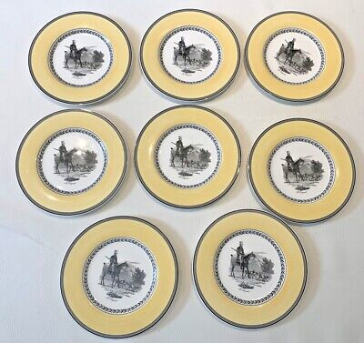 £89.99 • Buy Villeroy & Boch AUDUN CHASSES 1748 Made In Germany Fine China Dinner Plates X 8