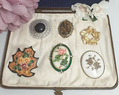 £17 • Buy Beautiful Job Lot 6 Vintage Signed Brooches Pins - Coro Limoges Exquisite Etc