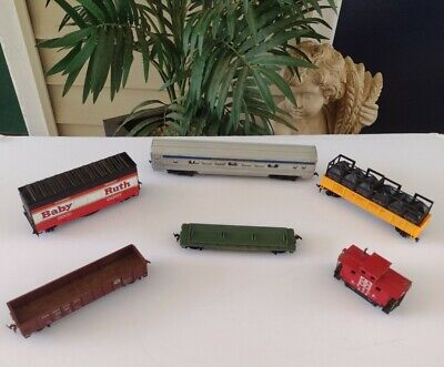 $ CDN11.33 • Buy Lot Of 6 Vintage Ho Scale Passenger Car Caboose Trains Mixed