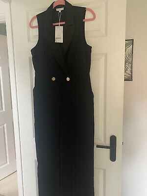 £24.99 • Buy Warehouse All In One Black Jump Suit Size12