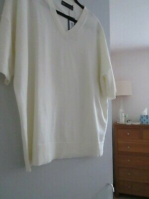 £7 • Buy M&S Collection Slouchy Cream Knit Jumper/top Size 16 NWT